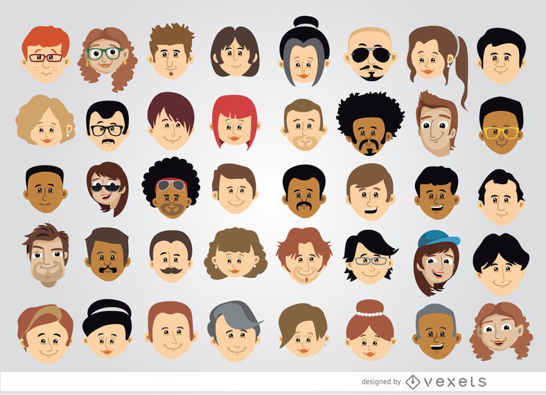 40 Cartoon character heads