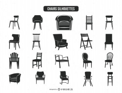 20 chair silhouettes collection