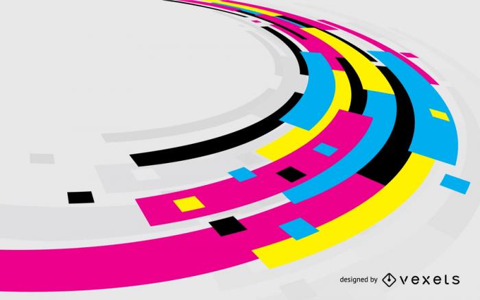 CMYK Vector Color Background