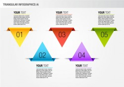 Colorful Triangular Info-graphic Pack