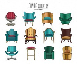 Cute stroke chair collection