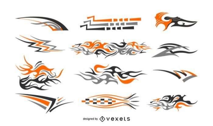 Decals illustration set