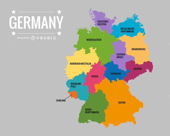 Deutschlandkarte Germany Map Vector