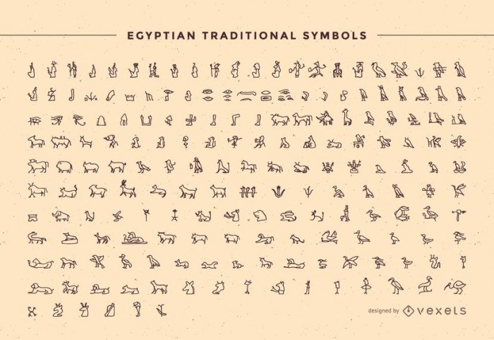 Egypt Traditional Symbol Pack Outline