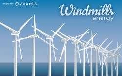 Energy windmill illustration