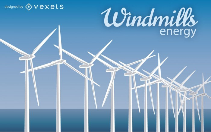 Energy windmill illustration