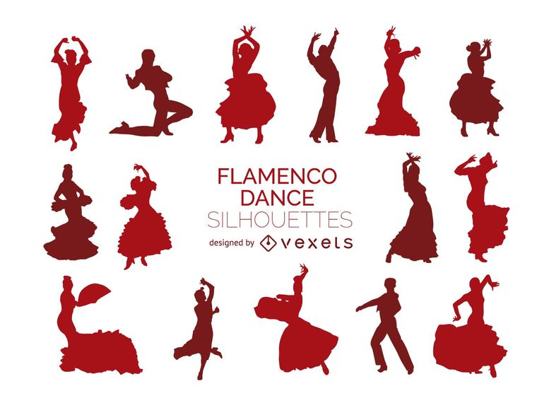 Flamenco Dancer silhouettes