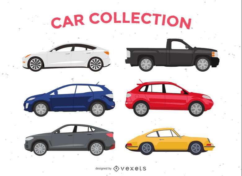 Flat car illustration pack