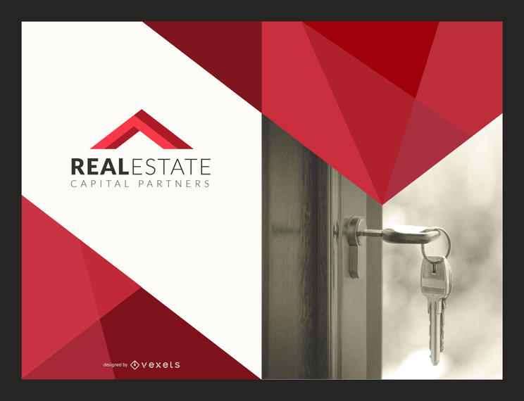 Flat Real Estate flyer mockup