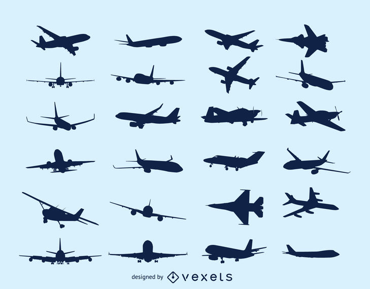 Flying Aircraft Pack Silhouette