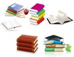 Glossy Book & Education Elements