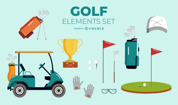 Golf Elements Set
