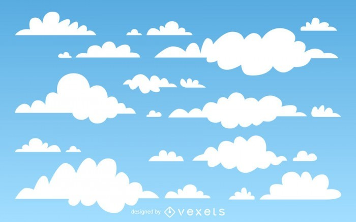 Illustrated clouds background
