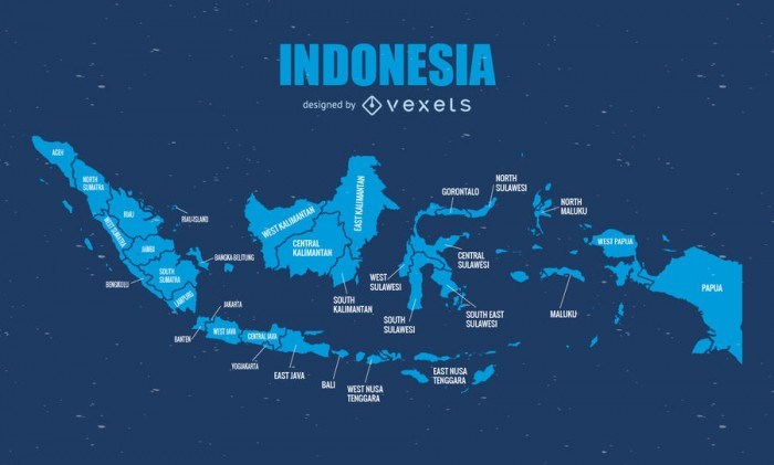Indonesia administrative map graphic