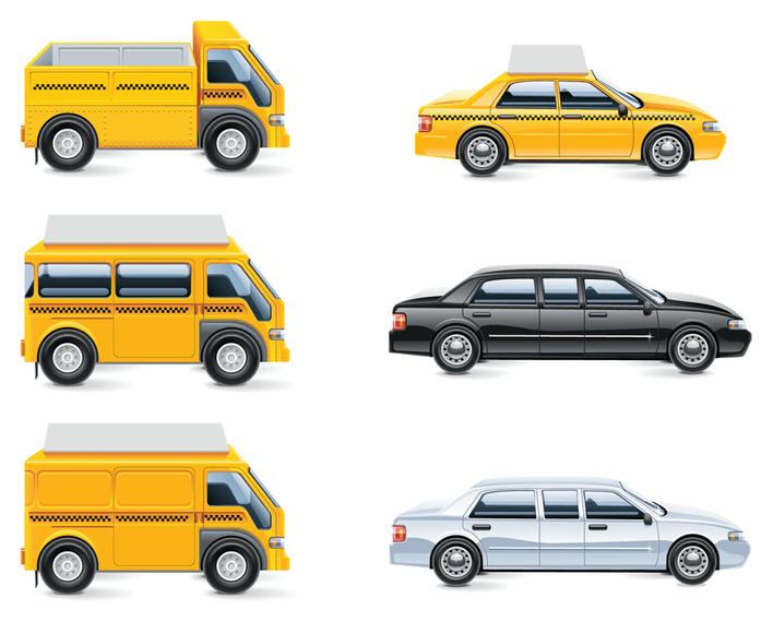 Isolated transport icon set
