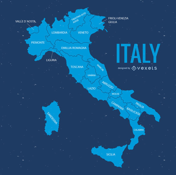 Italy map illustration