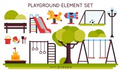 Kids playground element set