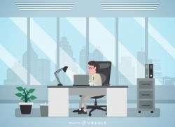 Man in office illustration