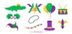 Mardi Gras Vector Set