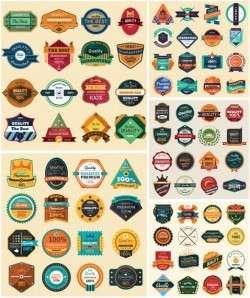 Modern & Vintage Abstract Label & Badge Pack