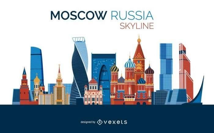 Moscow skyline design
