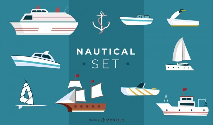 Nautical Illustration Set Design