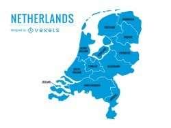 Netherlands provinces map