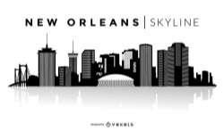 New Orleans silhouette skyline
