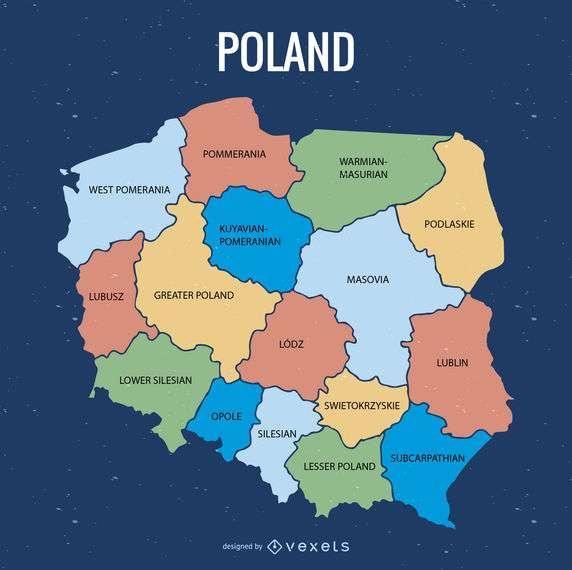 Poland administrative division map