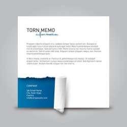 Realistic Torn Paper Memo