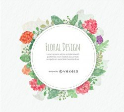 Rounded floral design