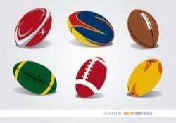 6 Rugby balls set