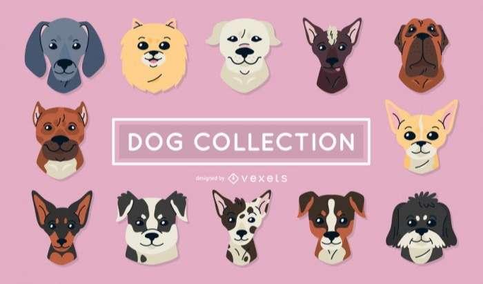 Set of dog illustrations