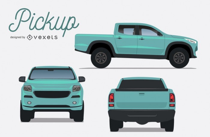 Set of pickup illustrations