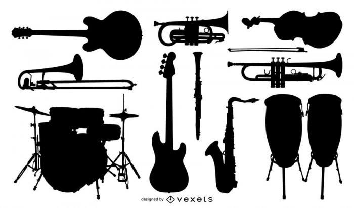 Silhouette Vector Music Instrument