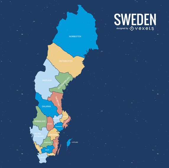 Sweden county map