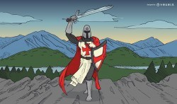 Templar knight illustration