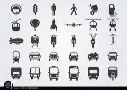 Transport icon set