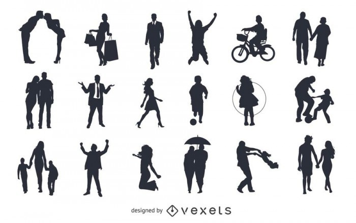 Vector Pack silhouettes, figures