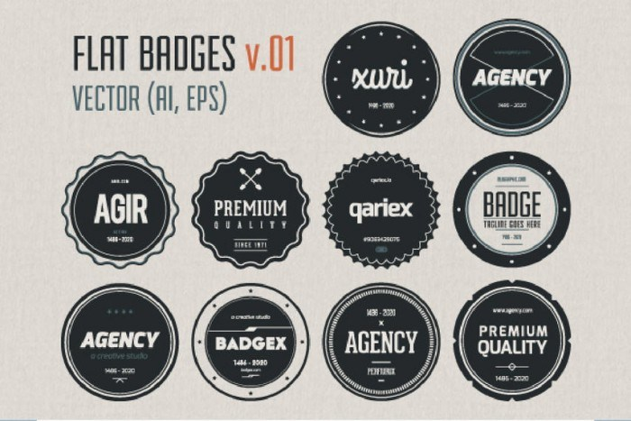 Vintage Circular Label Pack Template