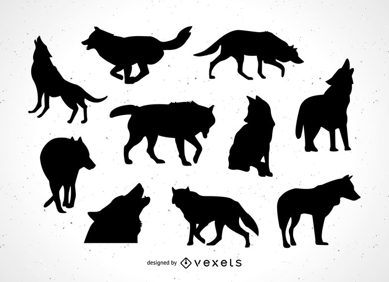Wolf silhouette collection