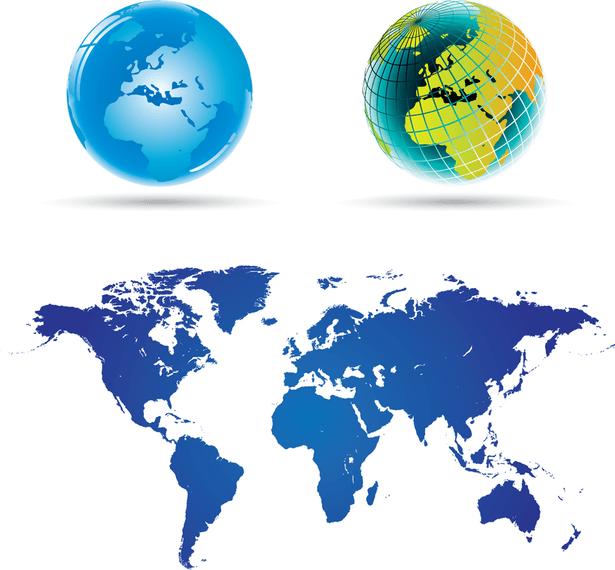 World Map 02 Vector