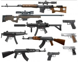 Different Weapons vectors graphic