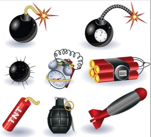 Explosive graphic vectors