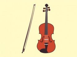 Violin art vector