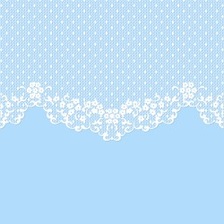 lace wedding blue vector 01