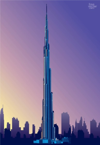 Burj Khalifa design vector