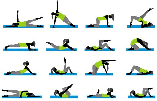 Fitness Symbols set vector