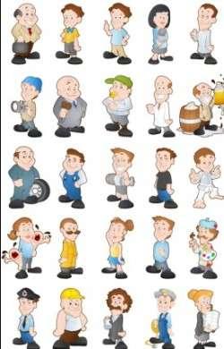 Cartoon Characters 4 vectors