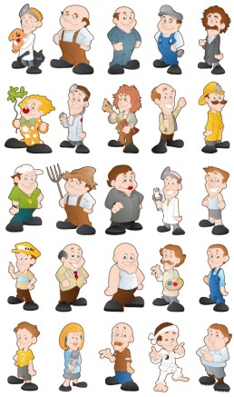 Cartoon Characters 5 vectors